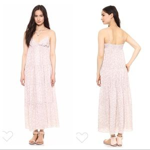 L'Agence Tiered Maxi Dress In Sandshell